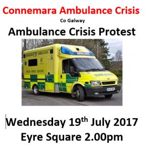 Connemara Ambulance Crisis – Protest March – 19th July