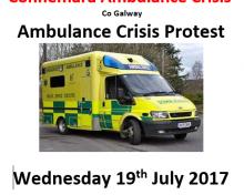 Connemara Ambulance Crisis Protest- Wed 19th July