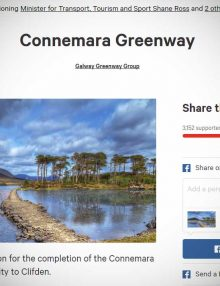Online petition gaining momentum for completion of Connemara Greenway